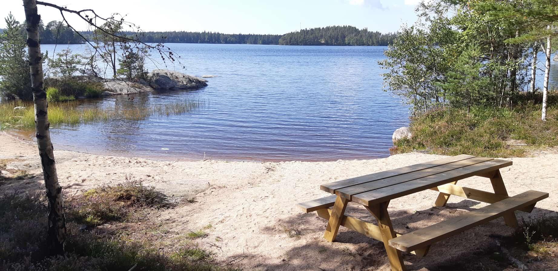 Leaderstöd gav Björkboda träsk på Kimitoön en ny simstrand