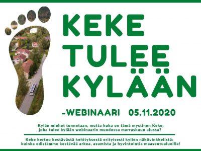 KeKe tulee kylään 5.11. – Ilmoittaudu mukaan kaikille avoimeen kestävän kehityksen webinaariin!