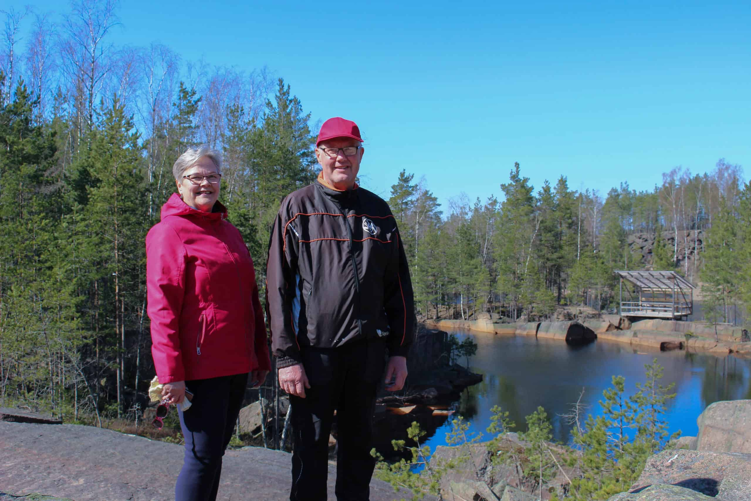 Lahdingon kyläyhdistysaktiivit Reijo ja Marjo Lehtonen
