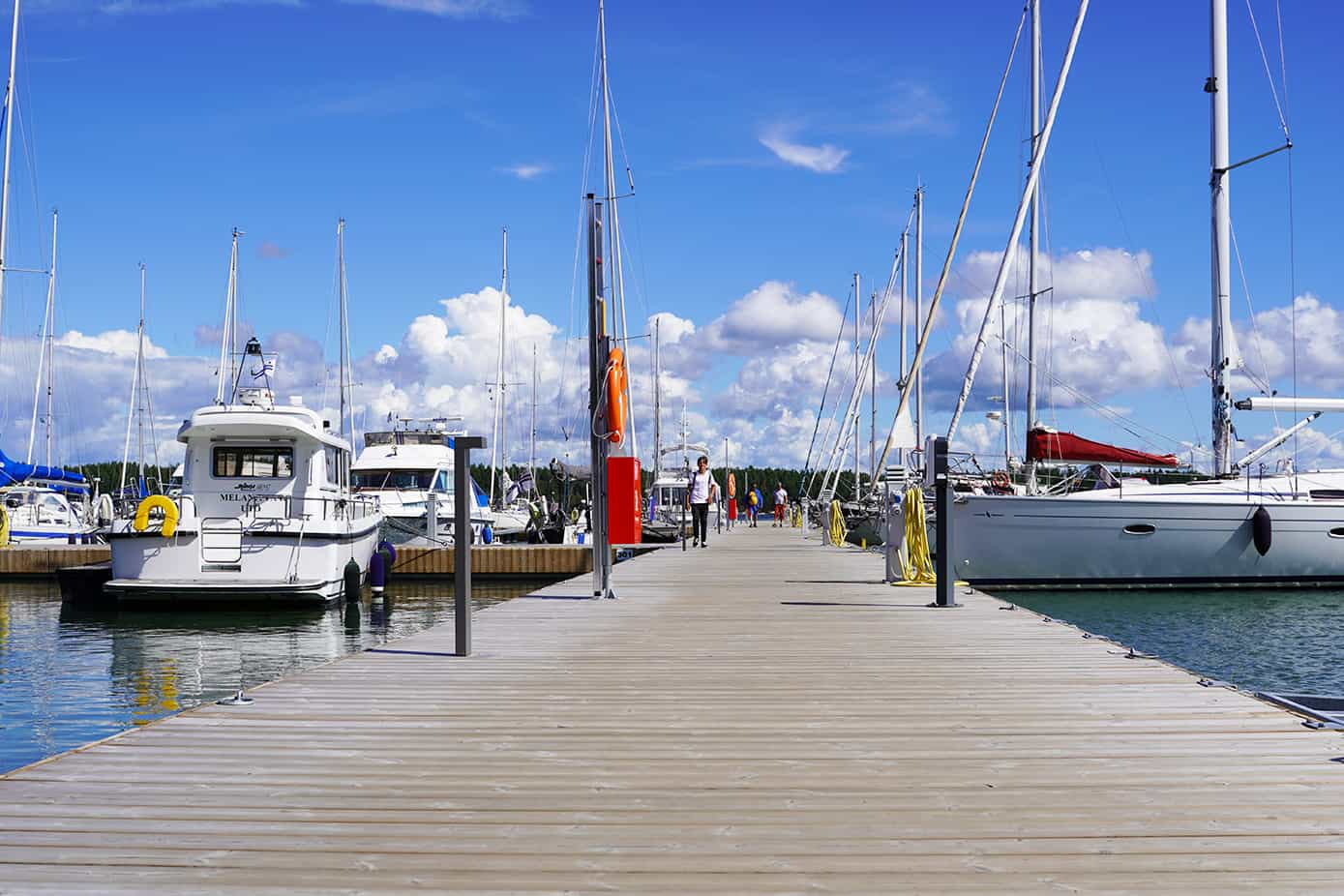 The new marina drew a record-breaking number of boaters to Nagu!