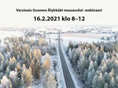 Varsinais-Suomen Älykkäät maaseudut -webinaari järjestetään 16.2.2021