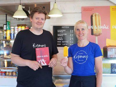 Café-restaurang Köpmans paletas smakar sommar