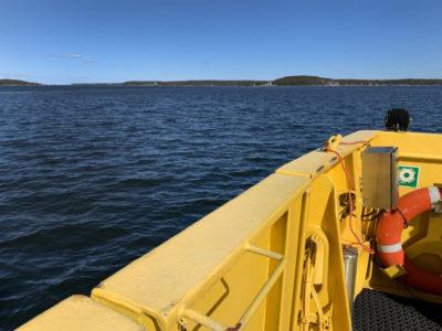 Kuva yhteysalukselta merelle päin.